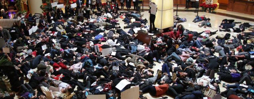 "ABA Stages a ""Die In"" at AAA 2014"